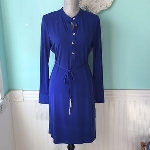 NWT Calvin Klein royal blue shirt dress tunic 8